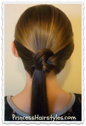 Ponytail Knot Tutorial Princess Hairstyles How To