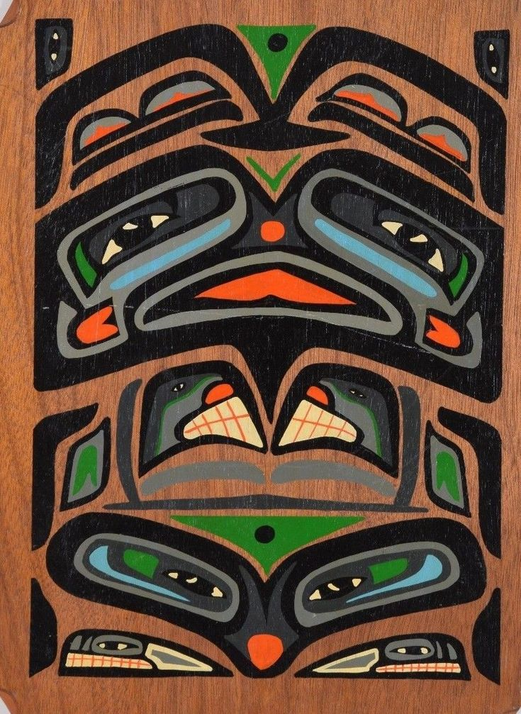 Jimmy & Mae Osborne Tlingit 1965 Bear Painting Juneau