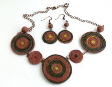 Teracota necklace- colier argila polimerica