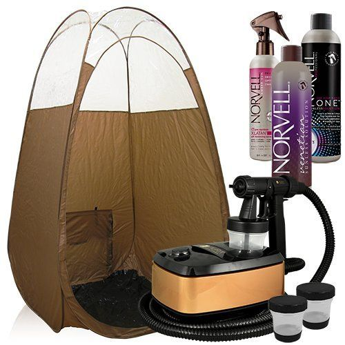 Aura Allure Spray Tan Machine Kit with Norvell Tanning Solution and Tent (Bronze)