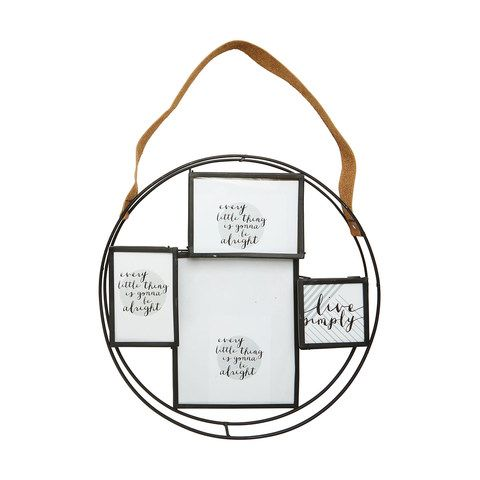Round Collage Frame With Strap
