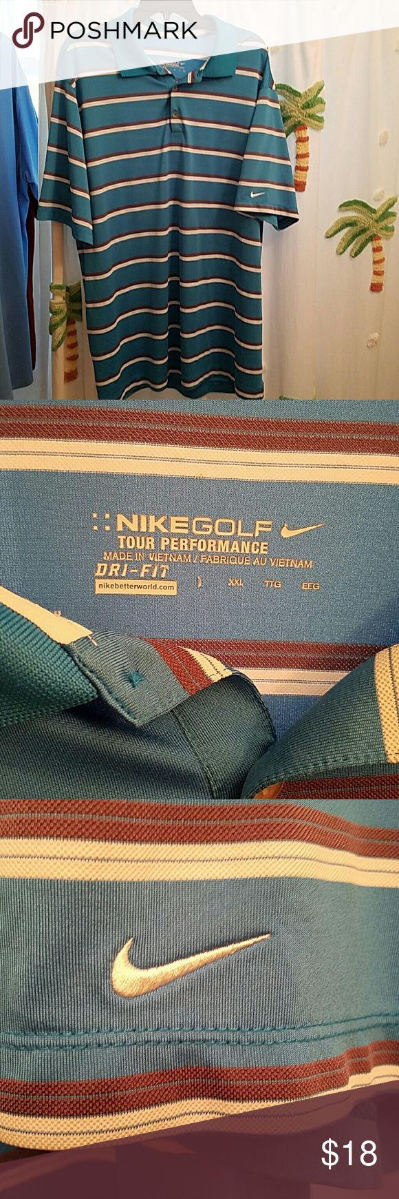 Nike mens golf shirt size 2XL Nike tour performance men's golf shirt size 2XL Dri-fit in EUC. I do discount if you bundle 2 or more Nike Shirts Polos