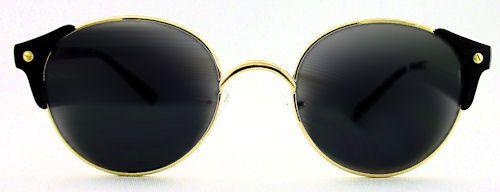 Granada Round Clubmaster Sunglasses - 104 Black $15