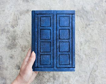 Doctor Who - River Song journal - natural leather - fan replica handmade Inkcraft book