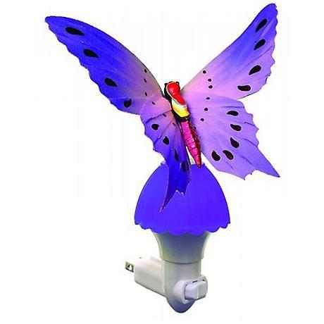 Butterfly Purple Fiber Optic LED Night Light