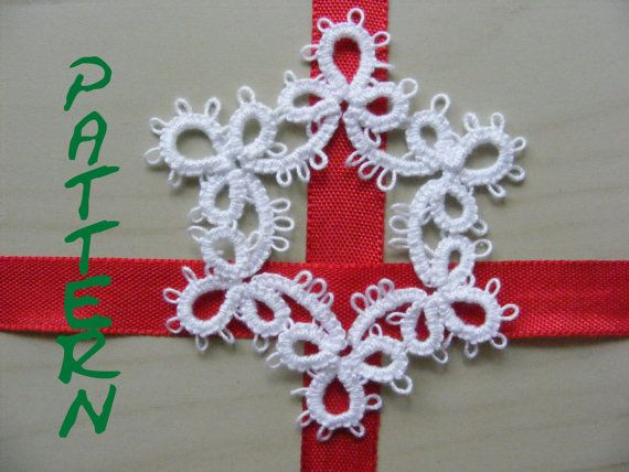 Needle Tatted Snowflake Ornament Pattern and by Crochettthings