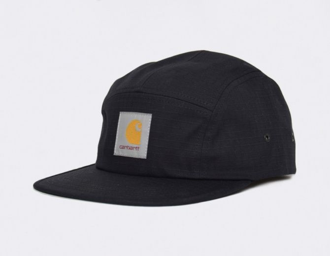 #Carhartt Caps 5 Panel Backley Black