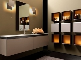 Libero spazio alla creatività per arredare la stanza da bagno con gli armadietti modulari #Casa #Arredo #Bath