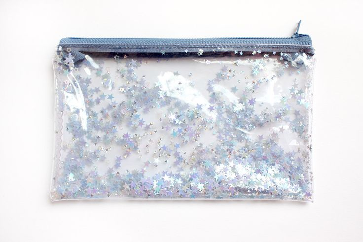 Blue Star, Pencil case, Transparent wallet, Clear bag, Purse organizer, glitter bag by RossMiu on Etsy https://www.etsy.com/listing/286526703/blue-star-pencil-case-transparent-wallet