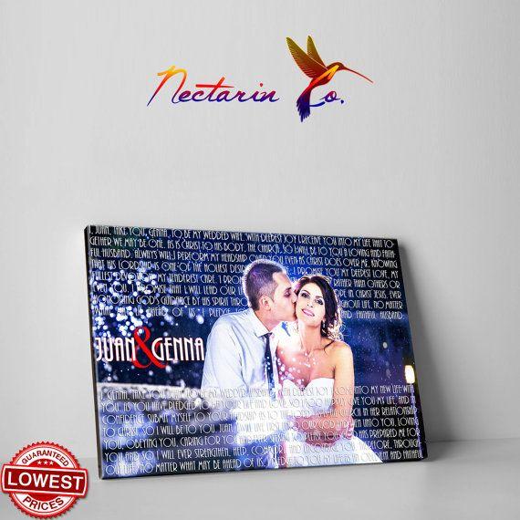 wedding vow keepsake  wedding vow art  1st by NectarinCo on Etsy