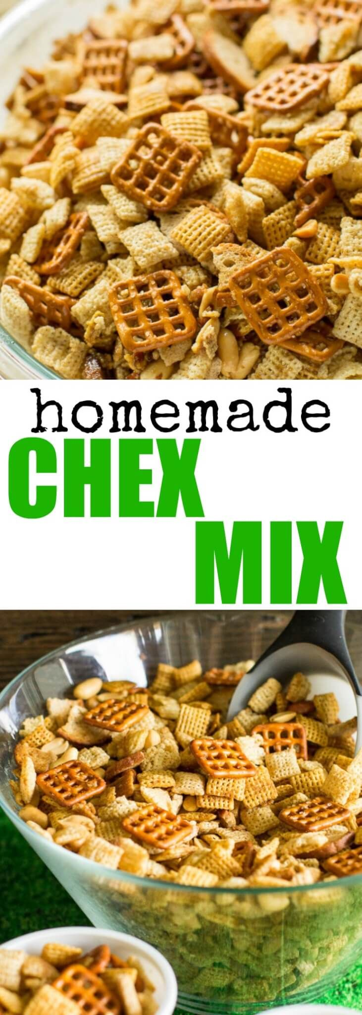 Make Homemade Chex Mix in the microwave in 10 minutes or less! Adapted from the original Chex Party Mix recipe (but I use more butter).