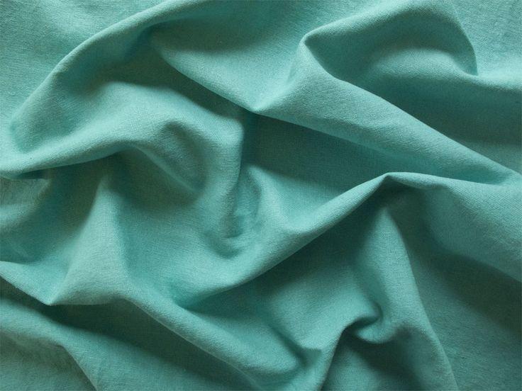Peacock blue Cotton & Linen mix dress fabric