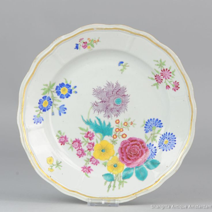Antique 18C Chinese porcelain Giles style decoration plate Lovely u0026 rare plate with unusual decoration   sc 1 st  Pinterest & 119 best Chinese antique porcelain plates images on Pinterest ...