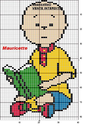 Caillou perler bead pattern by Mauricette