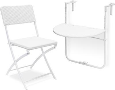 relaxdays 2 tlg. Sitzgruppe Balkon BASTIAN Klapptisch Gartenstuhl Balkonhängetisch weiß Jetzt bestellen unter: https://moebel.ladendirekt.de/garten/gartenmoebel/gartenmoebel-set/?uid=c906d433-4dab-5828-98f2-f783796f12e2&utm_source=pinterest&utm_medium=pin&utm_campaign=boards #garten #gartenmoebel #gartenmoebelset