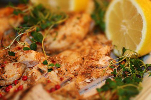 Kryddburken: Buffemat, Kallskuren kycklingfilé med citron, timjan & vitlök
