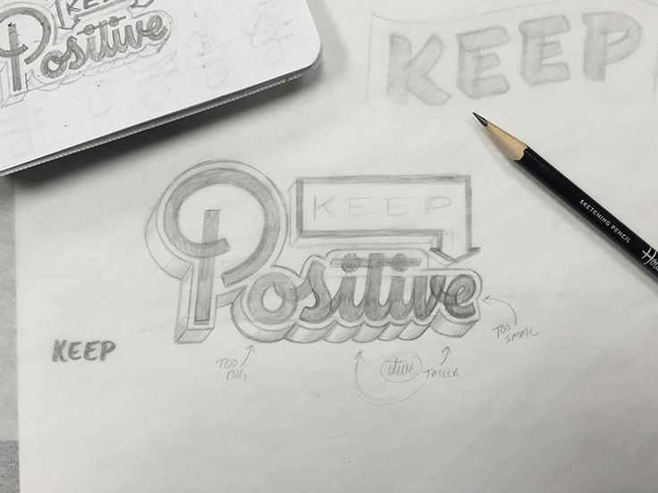 Keep Positive - Pencil Sketch by Bob Ewing #Design Popular #Dribbble #shots