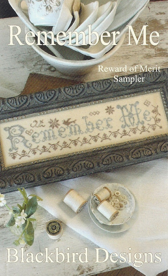 Vintage Cross Stitch Sampler Pattern: REMEMBER ME