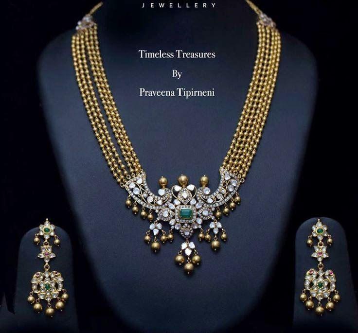 Trendy Long Chain by Praveena Tipirneni - Jewellery Designs