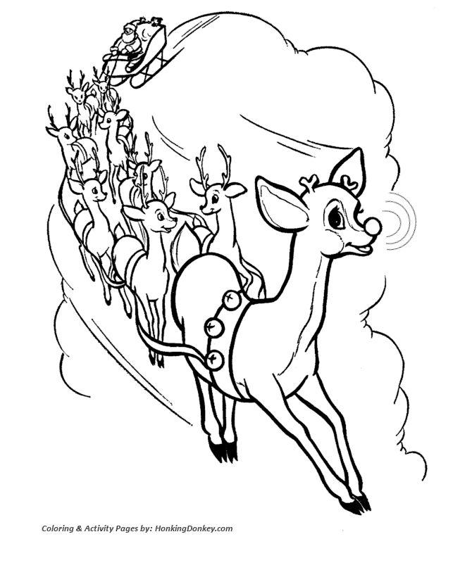 santa animal coloring pages - photo#36