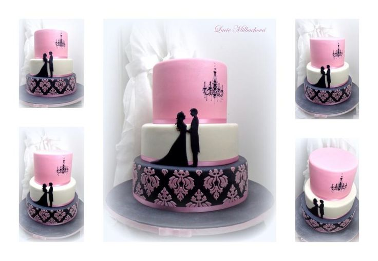 Wedding cake by Lucie - http://cakesdecor.com/cakes/284341-wedding-cake