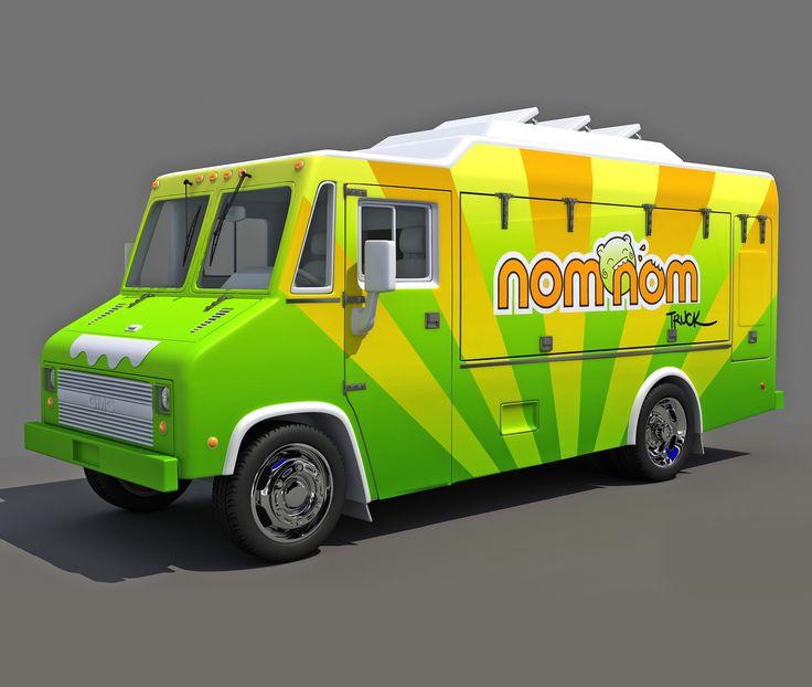 Food Truck 3D Max - 3D Model
