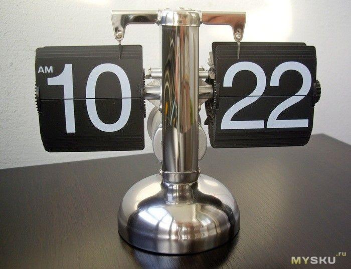 Настольные часы с перекидными цифрами