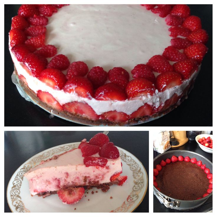 Homemade creamy strawberry cake