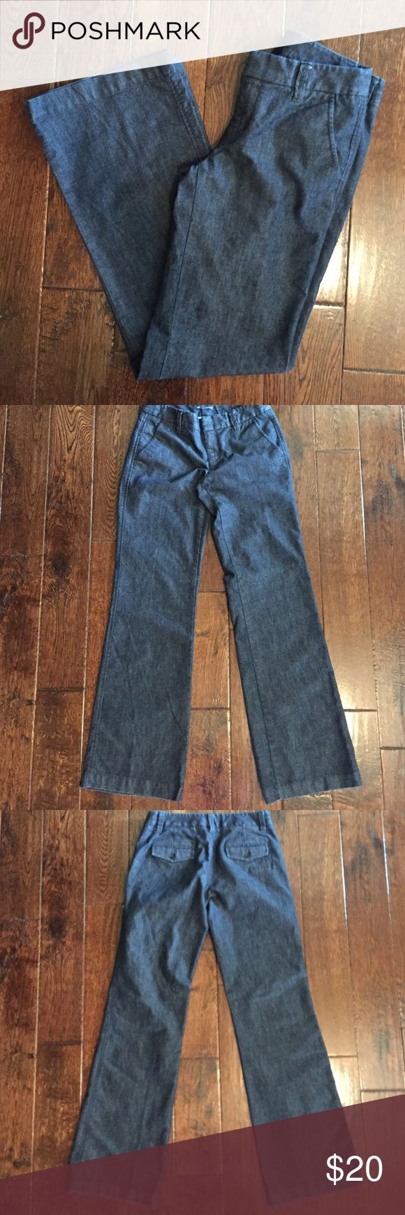 Gap Denim Trousers Gap trouser, size 2 long, inseam approx 34 inches, 84% cotton, 16% elasterell-p Gap Jeans