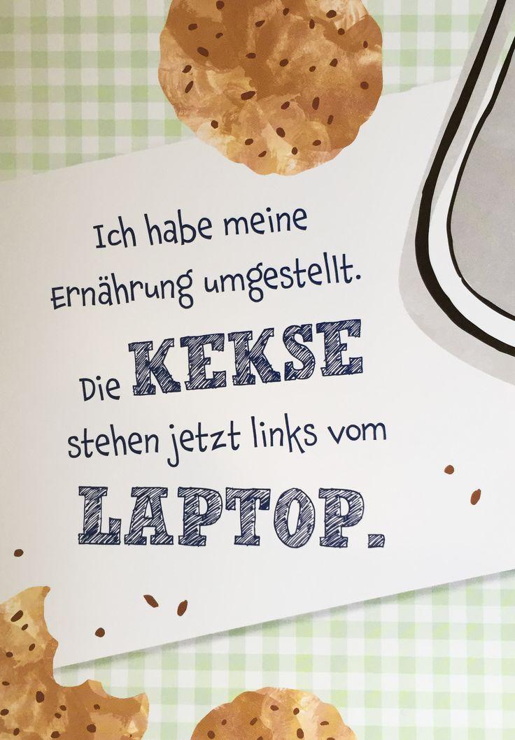 Ich habe meine Ernährung umgestellt: Die Kekse stehen jetzt links vom Laptop.  www.coco-kinderladen.de