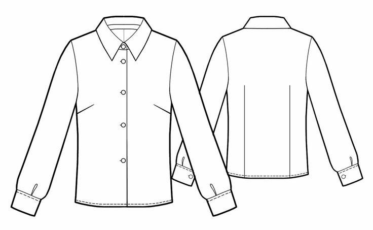Blusa  - Patrón de costura #5446 Patrón de costura a medida de Lekala con descarga online gratuita.