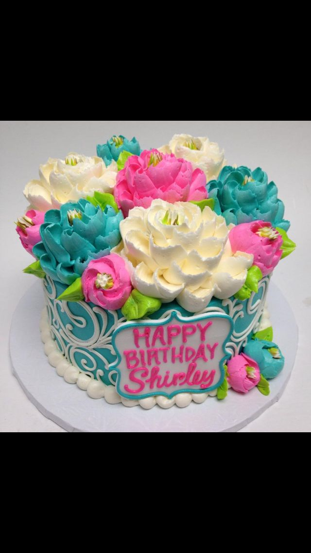 Sweet little buttercream cake by the white flower cake shoppe!