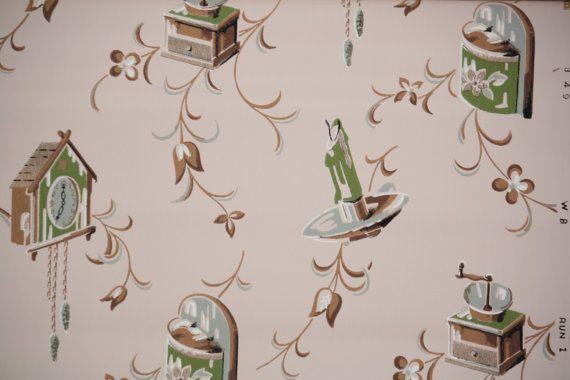 Tappezzeria vintage 1950  Retro metà secolo di HannahsTreasures