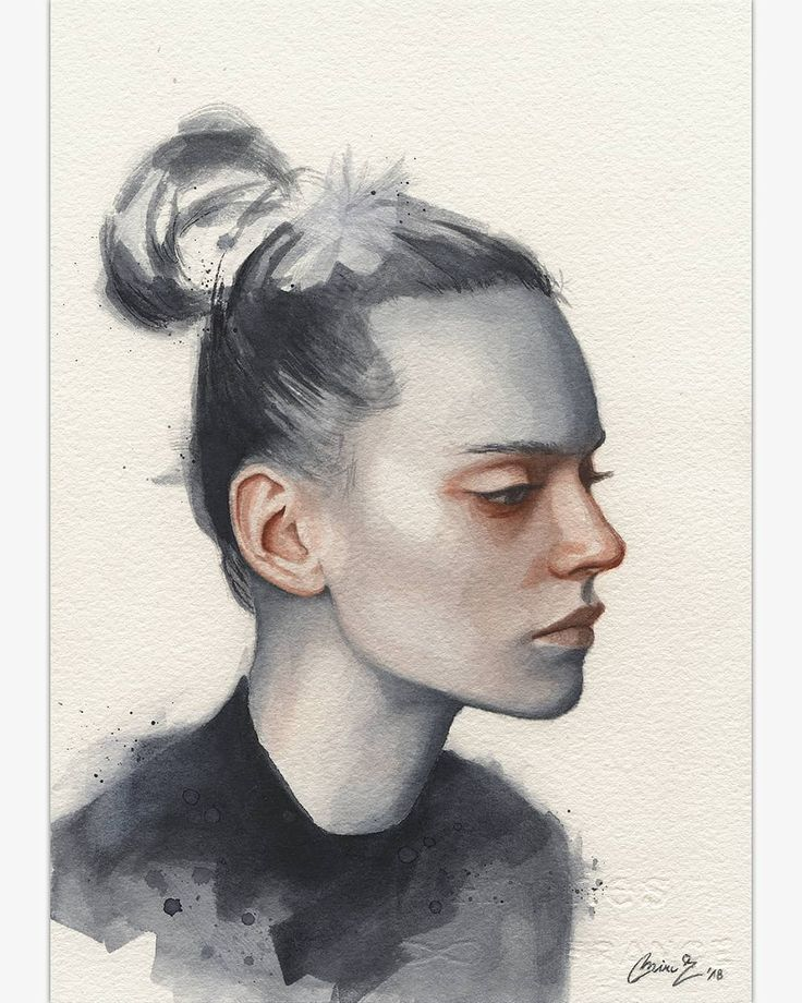 (@miro_z_art)  Small watercolor painting  #portrait #face #watercolor #painting #paint #art #artwork #fineart #contemporaryart #watercolorpainting #watercolorart #watercolour #aquarelle #akvarell #brush #paper #miro_z #waterblog #cartel_watercolorists #instaart #arts_help #beautifulbizarre #artist_4_shoutout #onyxkawai