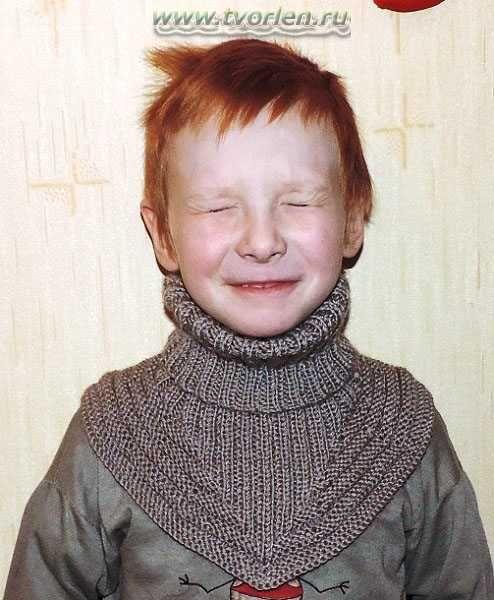 манишка для мальчика - готовое изделие