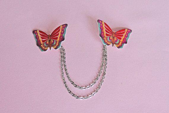 Bolero cardigan vest kraag clips vlinder tattoo door MissFrauque