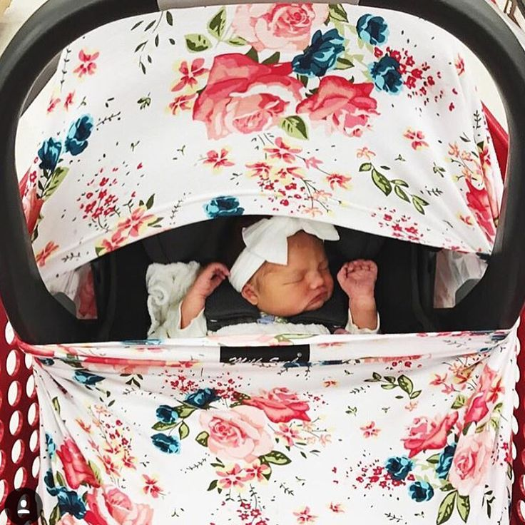 Add an adorable car seat cover to  your baby registry! Bonus: they also double as nursing covers!!