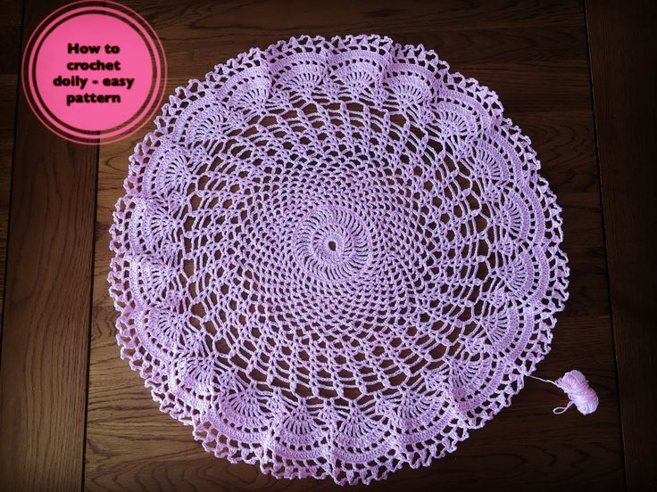 How to crochet doily -  easy pattern