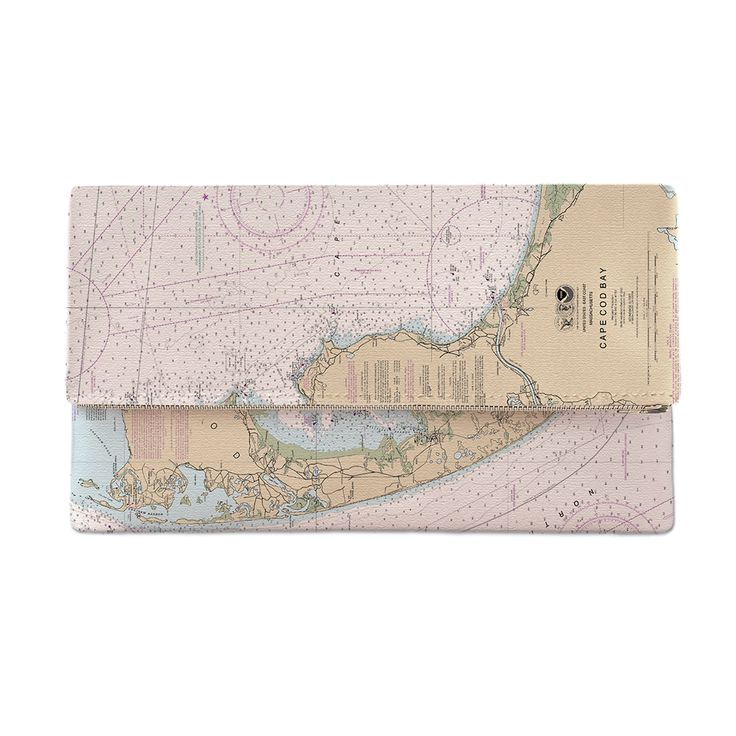 MA: Cape Cod, MA Nautical Chart Clutch