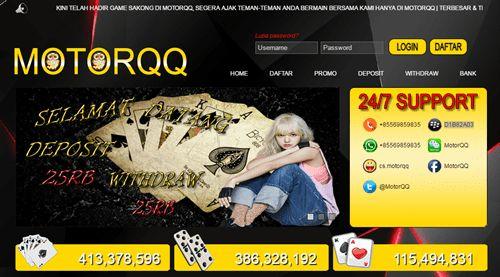Pada artikel hari ini Admin akan mempersembahkan dan merekomendasikan sebuah situs judi online baru dengan nama situs adalah MotorQQ.