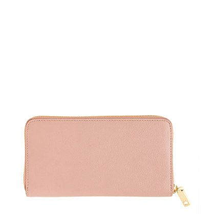 Leather Zip Around Wallet - Cottage Roses Wallet by VIDA VIDA OBypT
