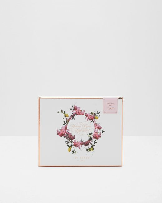 Citrus Bloom travel gift set - Pink | Gifts For Her | Ted Baker NEU