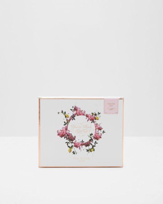 Citrus Bloom travel gift set - Pink   Gifts For Her   Ted Baker NEU