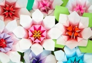 Learn to make origami flowers.