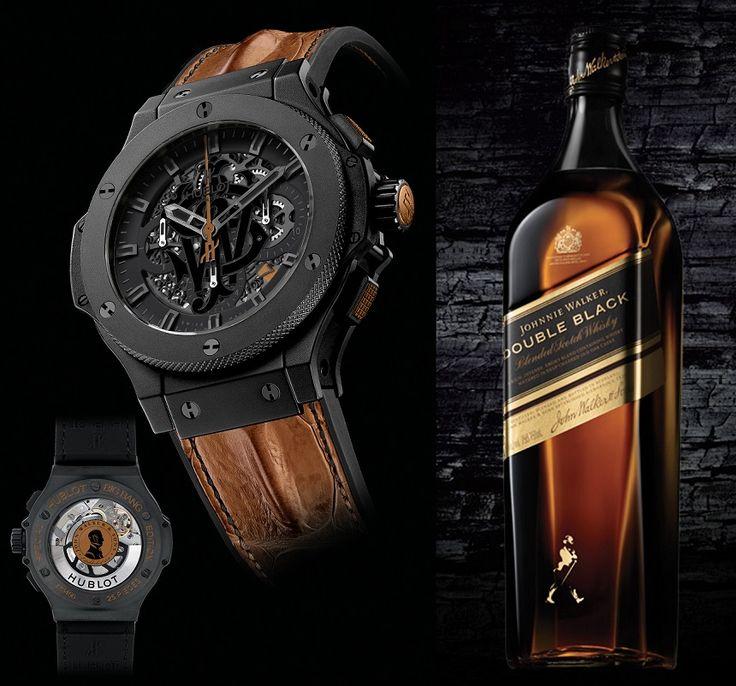#Hublot Big Bang Aero Johnnie Walker Whisky Limited Edition Watch for Men