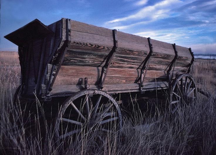 Old west wagon. buckboard wagon.