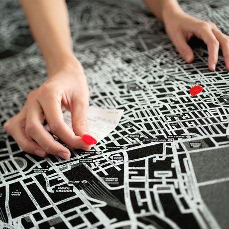EcoFriendly Felt City Maps by Palomar Featuring maps of world