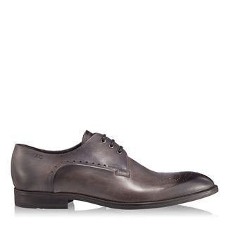 Pantofi barbati gri 2828 piele naturala