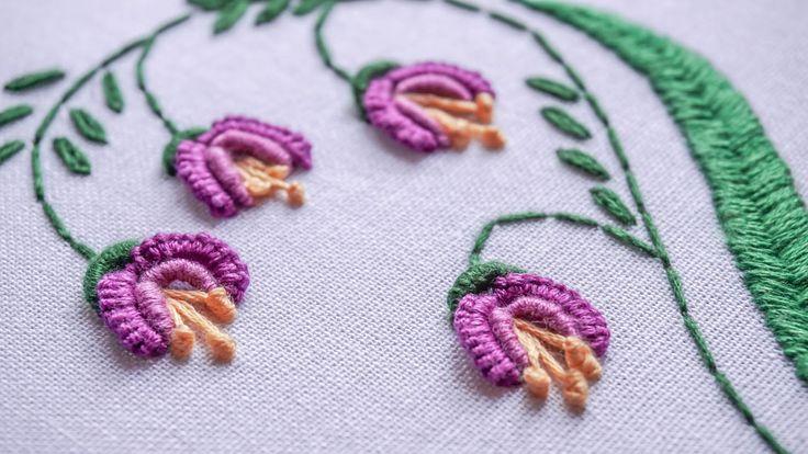 DIY Embroidery Ideas   Stitching Flower Design by Hand   HandiWorks #81