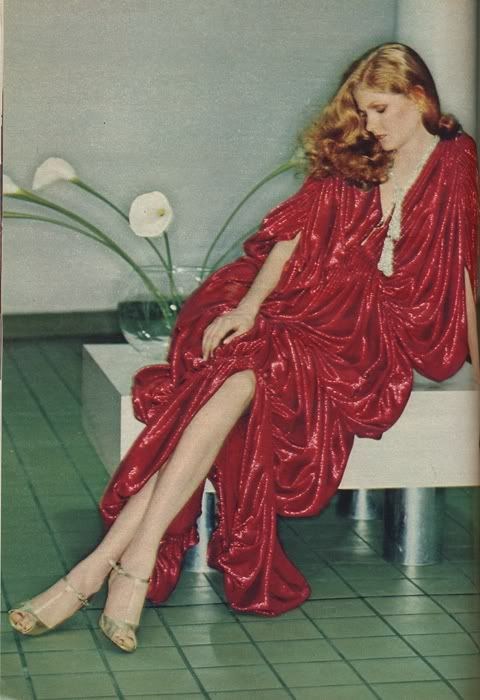 Cosmopolitan 1978, Norma Kamali dress, Maud Frizon shoes